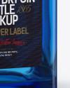 Blue Glass Gin Bottle Mockup
