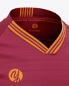 Men's V-Neck Soccer Jersey Mockup - Front Half-Side View - Football Jersey Soccer T-shirt