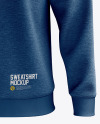 Men's Heather Midweight Sweatshirt mockup (Front View)