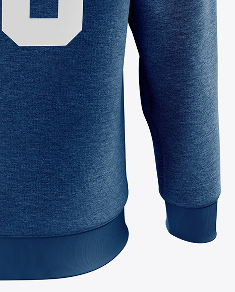 Download Mens Heather Midweight Sweatshirt Mockup Back View Yellowimages