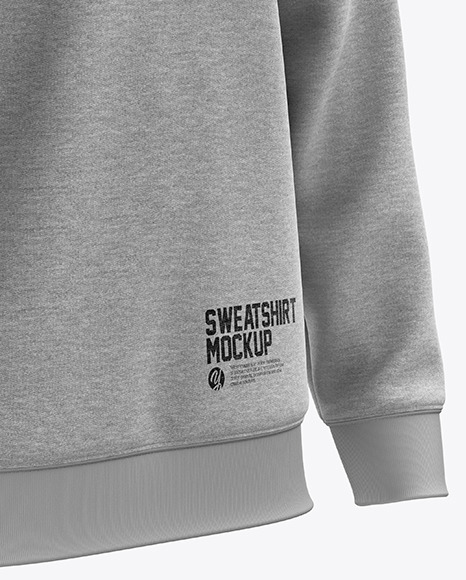 Men's Heather Midweight Sweatshirt mockup (Right Half Side View)