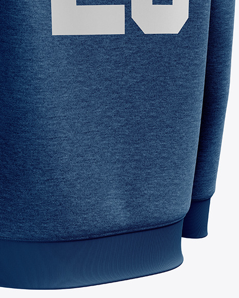 Men's Heather Midweight Sweatshirt mockup (Back Half Side View)