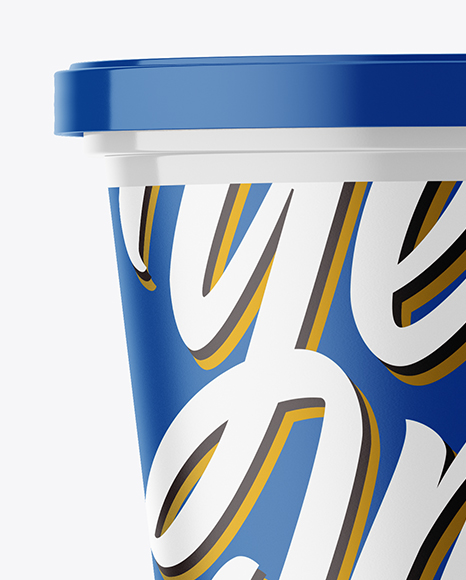 Download Glossy Plastic Cup With Foil Lid Mockup PSD - Free PSD Mockup Templates