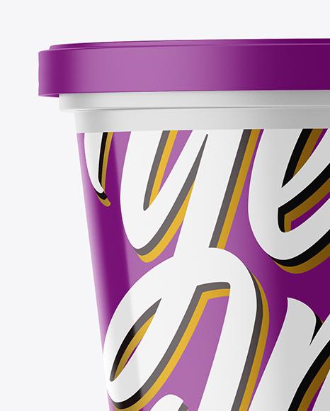 Matte Plastic Cup Mockup