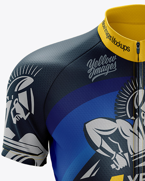Women's Classic Cycling Jersey mockup (Front View)