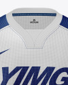 Men's Soccer Y-Neck Jersey Mockup