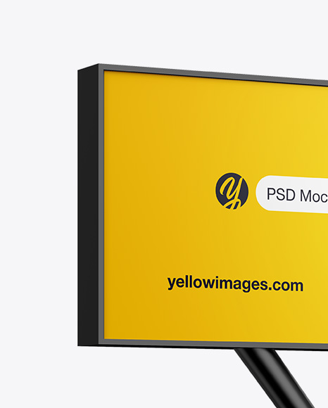 Billboard Mockup - Half Side View