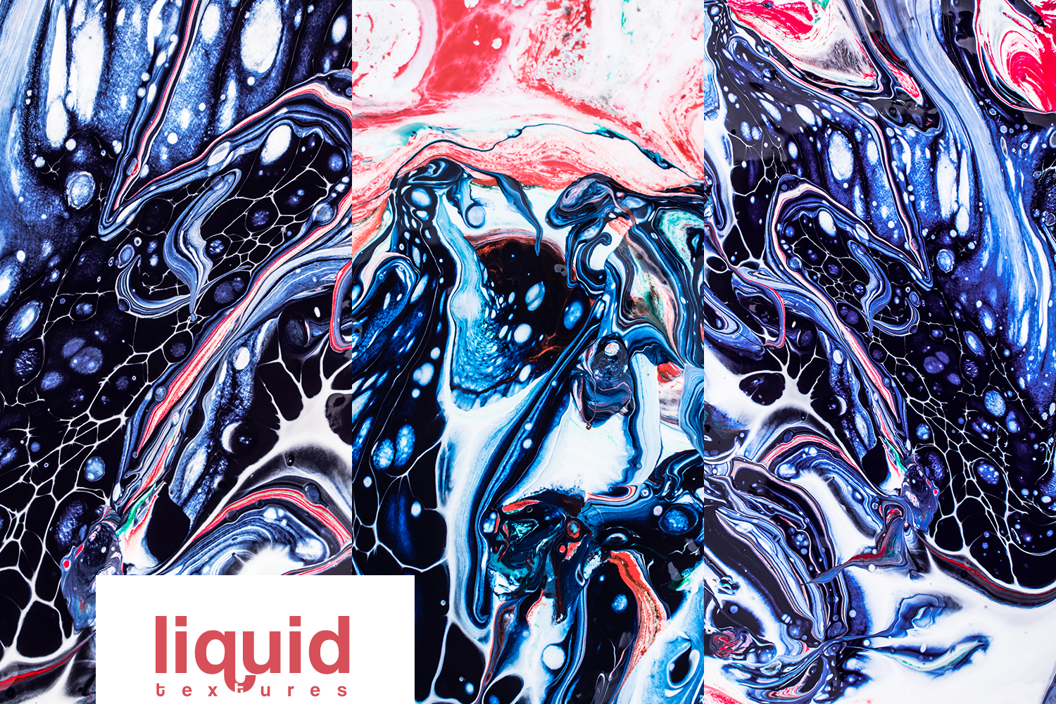 Liquid marble backgrounds vol1