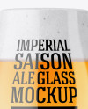 Tulip Glass With Imperial Ale Mockup