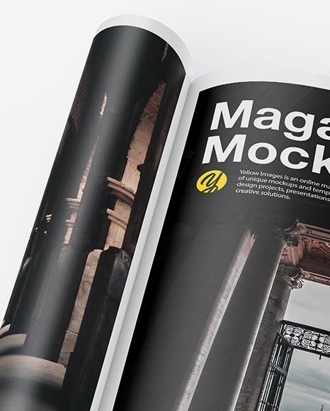 Matte A4 Magazine Mockup