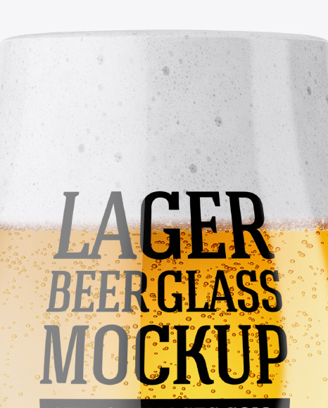 Tulip Glass With Lager Beer Mockup