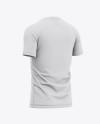 Men's Soccer Jersey Mockup - Back Half Side View Of Soccer T-Shirt