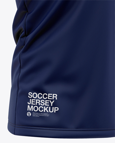 Men's Soccer Jersey Mockup - Front Half Side View Of Soccer T-Shirt