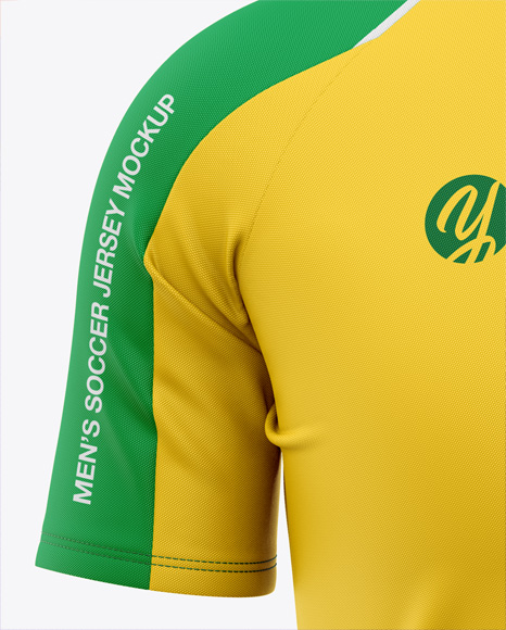 Download Men S Crew Neck Raglan Soccer Jersey Mockup Front View Football Jersey Soccer T Shirt In Apparel Mockups On Yellow Images Object Mockups PSD Mockup Templates