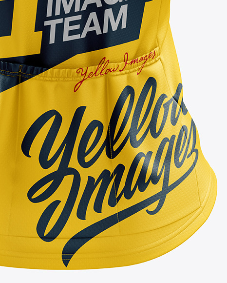 Women's Classic Cycling Jersey mockup (Back View)