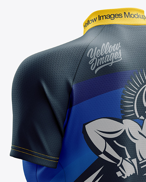 Women's Classic Cycling Jersey mockup (Back Half Side View)