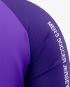 Men's Soccer Crew Neck Raglan Jersey Mockup - Back View