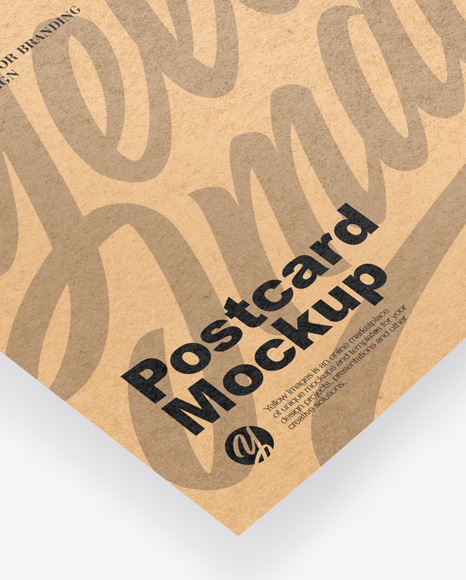 Kraft Paper Postcard Mockup