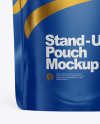 Matte Stand Up Pouch W/ Zipper Mockup