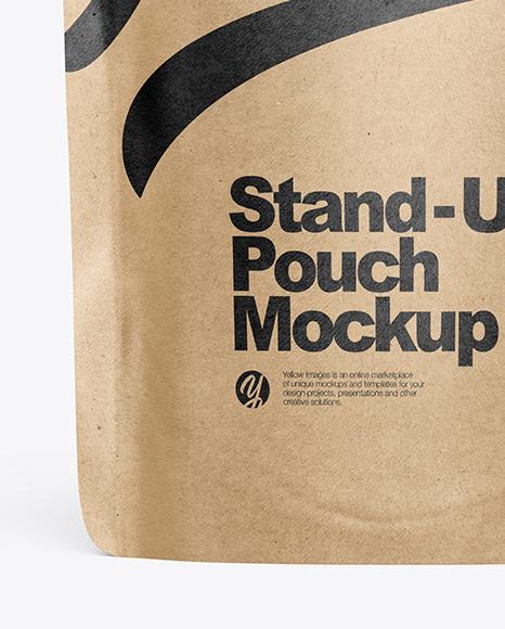 Kraft Stand Up Pouch W/ Zipper Mockup