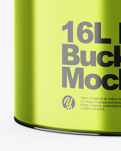 Free 20L Tin Paint Bucket Mockups