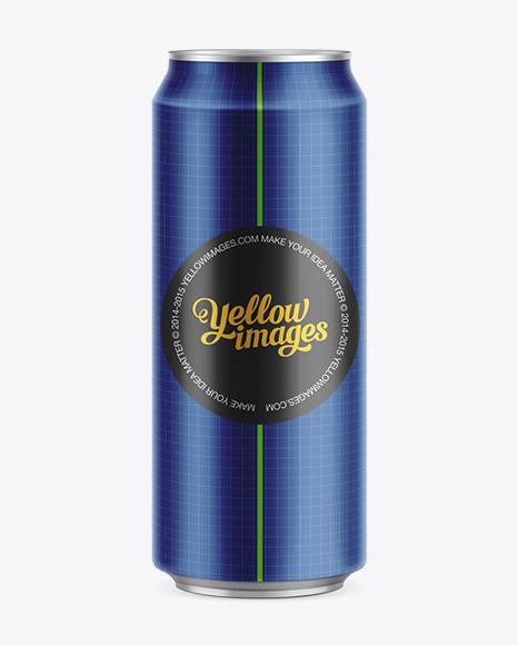 500ml Beer Can Mockup