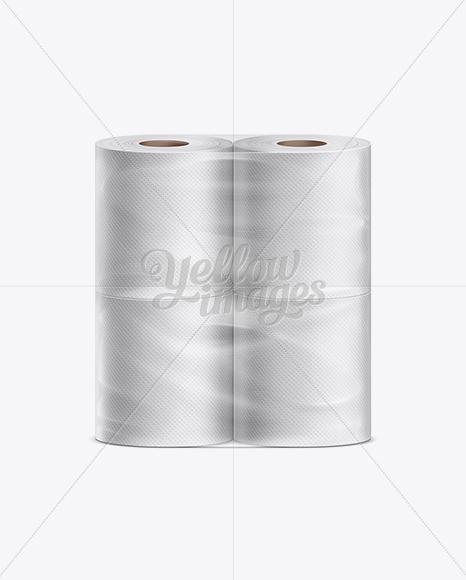 Toilet Paper 4 pack Mockup