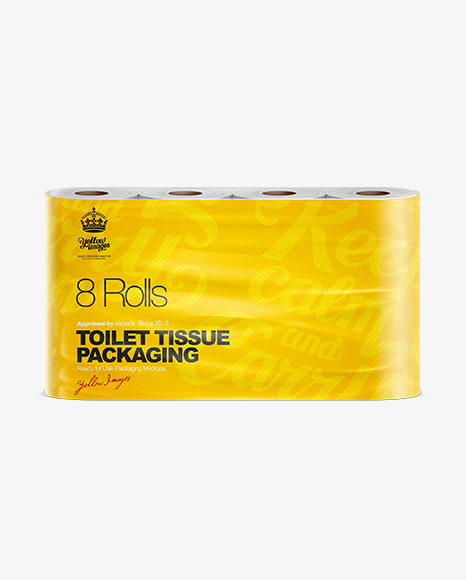 Toilet Tissue 8 pack Mockup