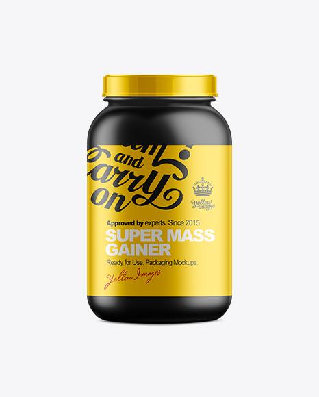 909g Protein Jar Mockup