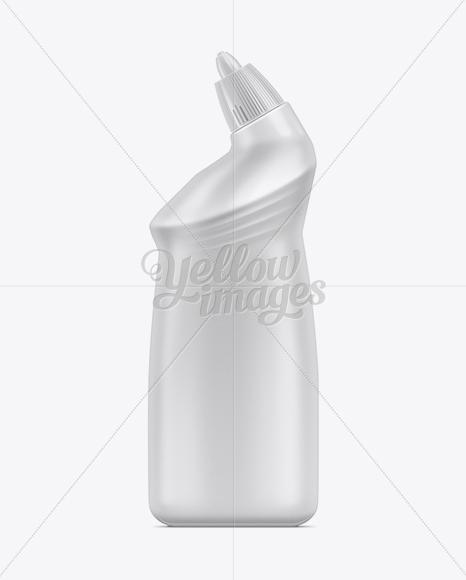 500ml Toilet Bowl Cleaner Bottle Mockup in Bottle Mockups on Yellow