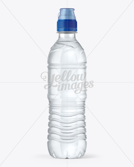 Download 500ml Water Bottle With Sport Cap Mockup In Bottle Mockups On Yellow Images Object Mockups Yellowimages Mockups