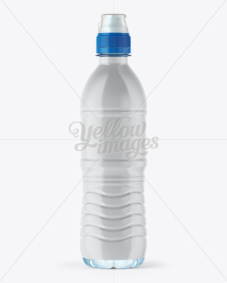 500ml Water Bottle with Sport Cap Mockup - Shrink Sleeve Labeling