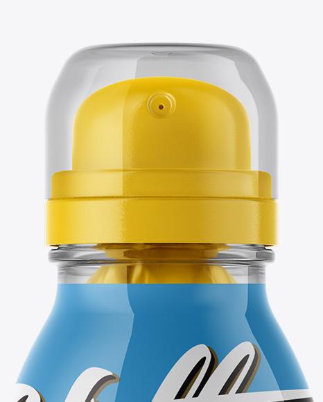 Clear Bag-on-Valve Spray With Clear Overcap Mockup