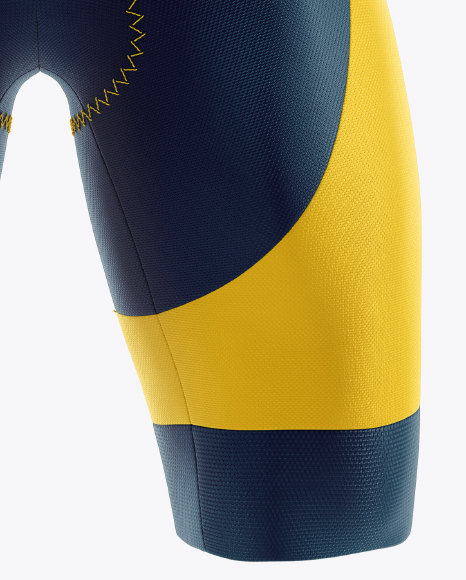Cycling Speed Suit Mockup - Front View