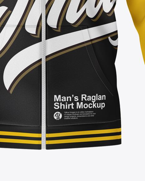 Raglan Hoodie Mockup - Front View