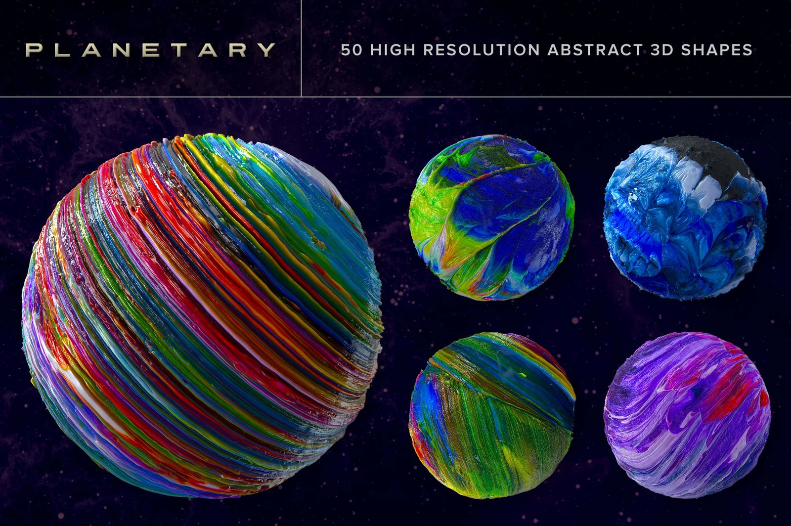 Planetary: 50 Abstract 3D Shapes