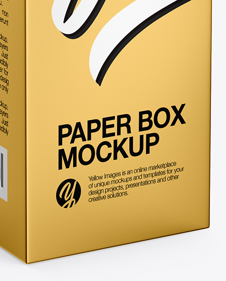 Metallic Paper Box Mockup