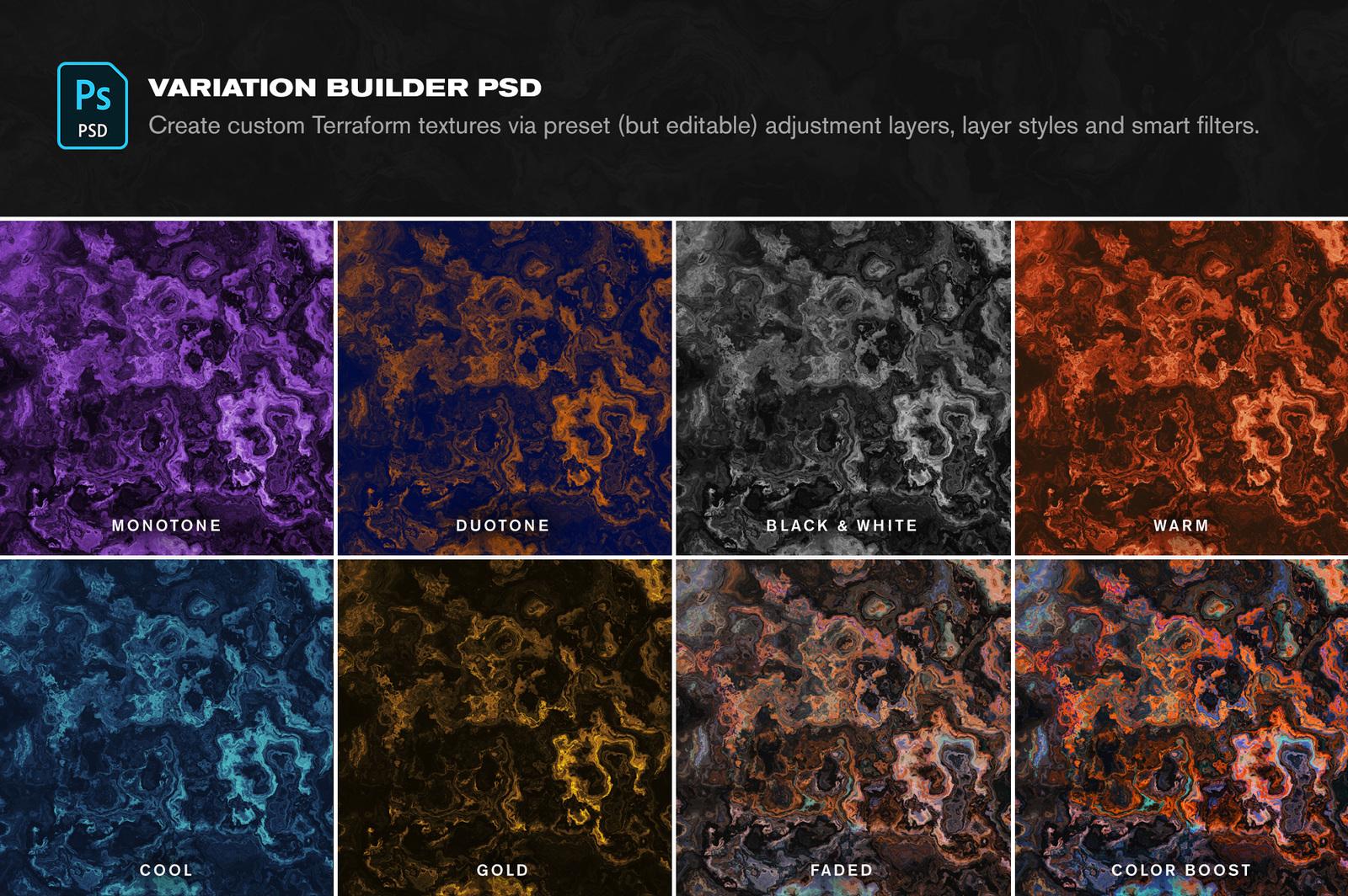 Terraform: 15 Otherworldly Textures