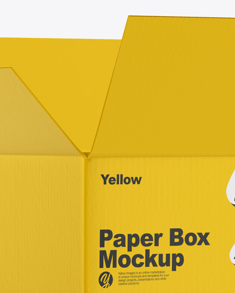 Glossy Opened Box Mockup