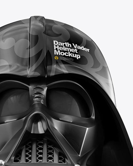 Glossy Darth Vader Helmet Mockup
