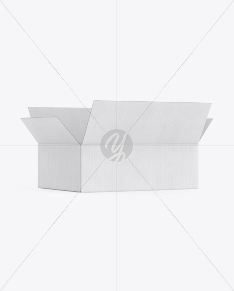 Kraft Opened Box Mockup