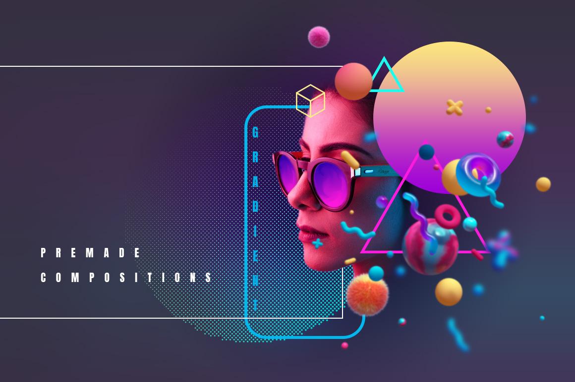Image result for 3d elements in web design