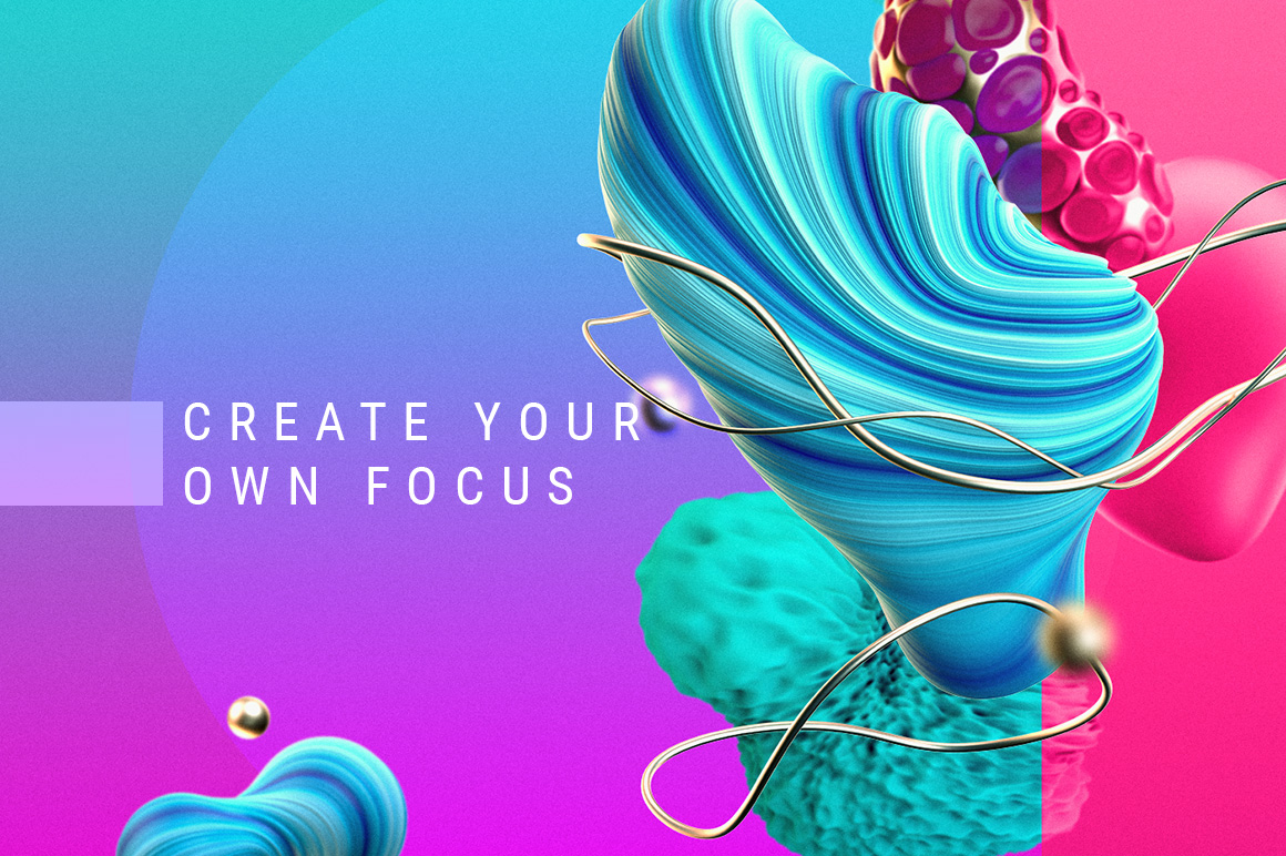"Set of graphic elements ""Focus"""