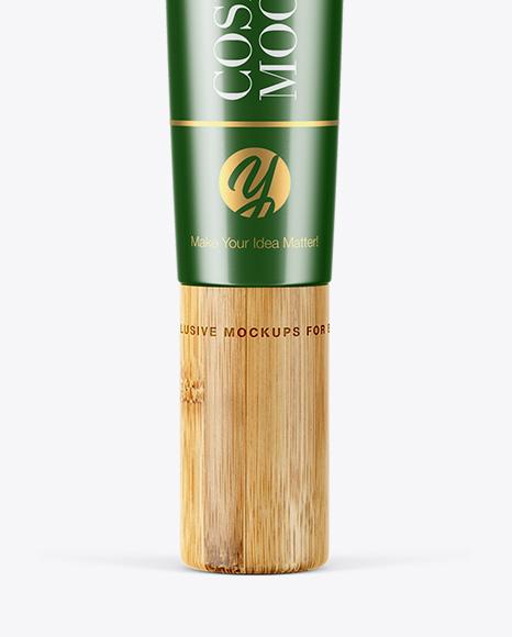 Matte Metallic Tube With Bamboo Cap