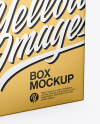 Metallic Paper Box Mockup