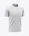 Men's Soccer Crew Neck Raglan Jersey Mockup - Front Half-Side View