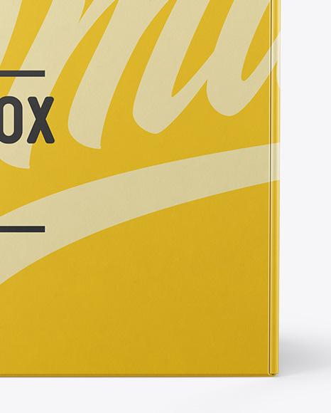Paper Box Mockup - Front View