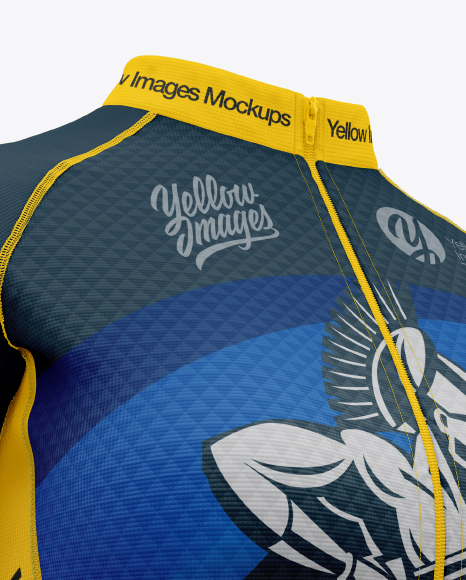 Women`s Cycling Jersey Mockup - Half Side View
