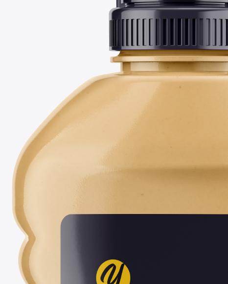 Clear Bottle w/ Honey Mockup