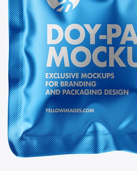 30ml Matte Metallic Doy-Pack Mockup